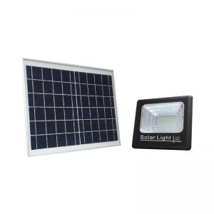 Wall mount infrared 40 watts solar flood light fixture with timer
