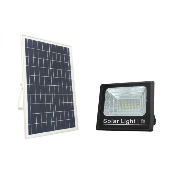 solar rechargeable led flood light lamp 50w for driveway lighting